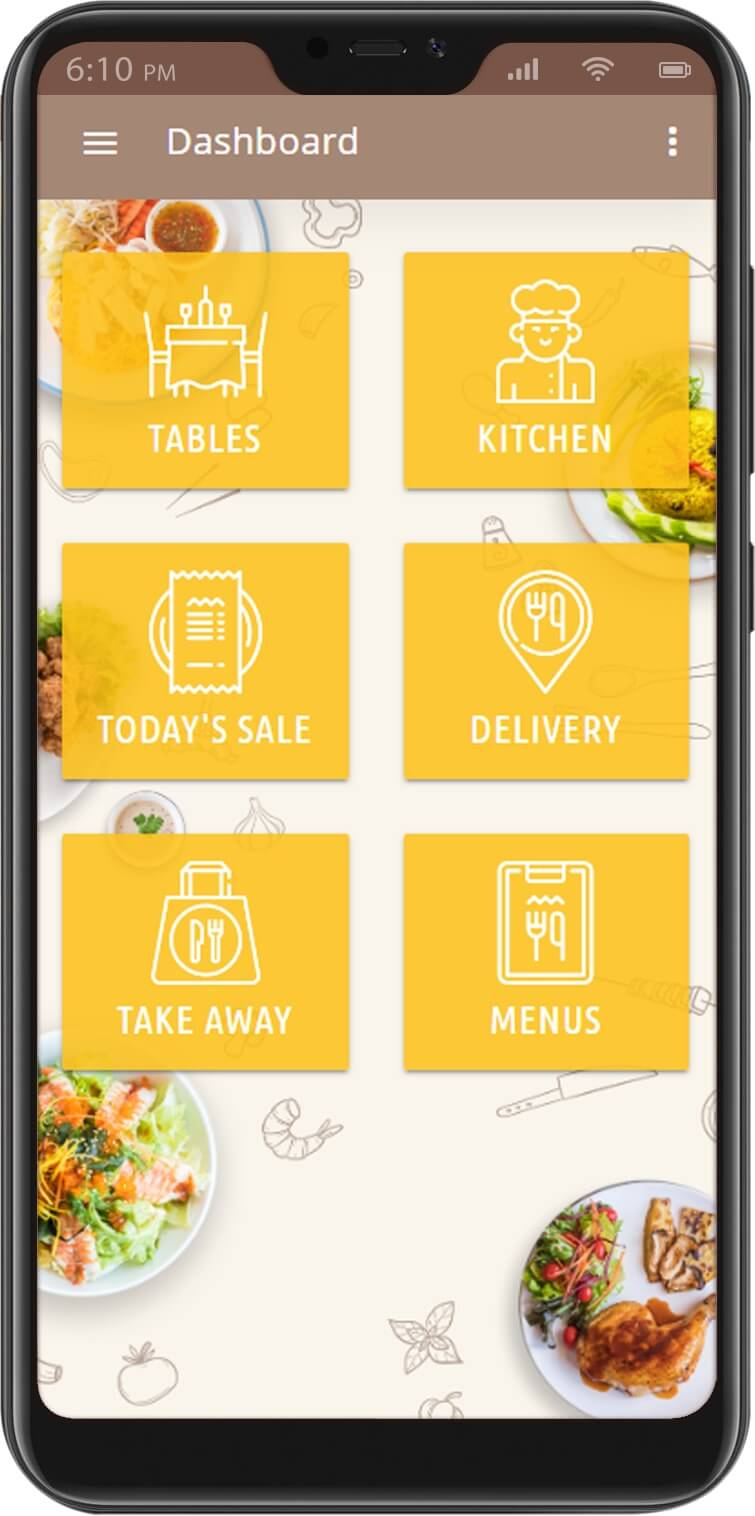 Eatery Restaurant Management System Mobile Dashboard